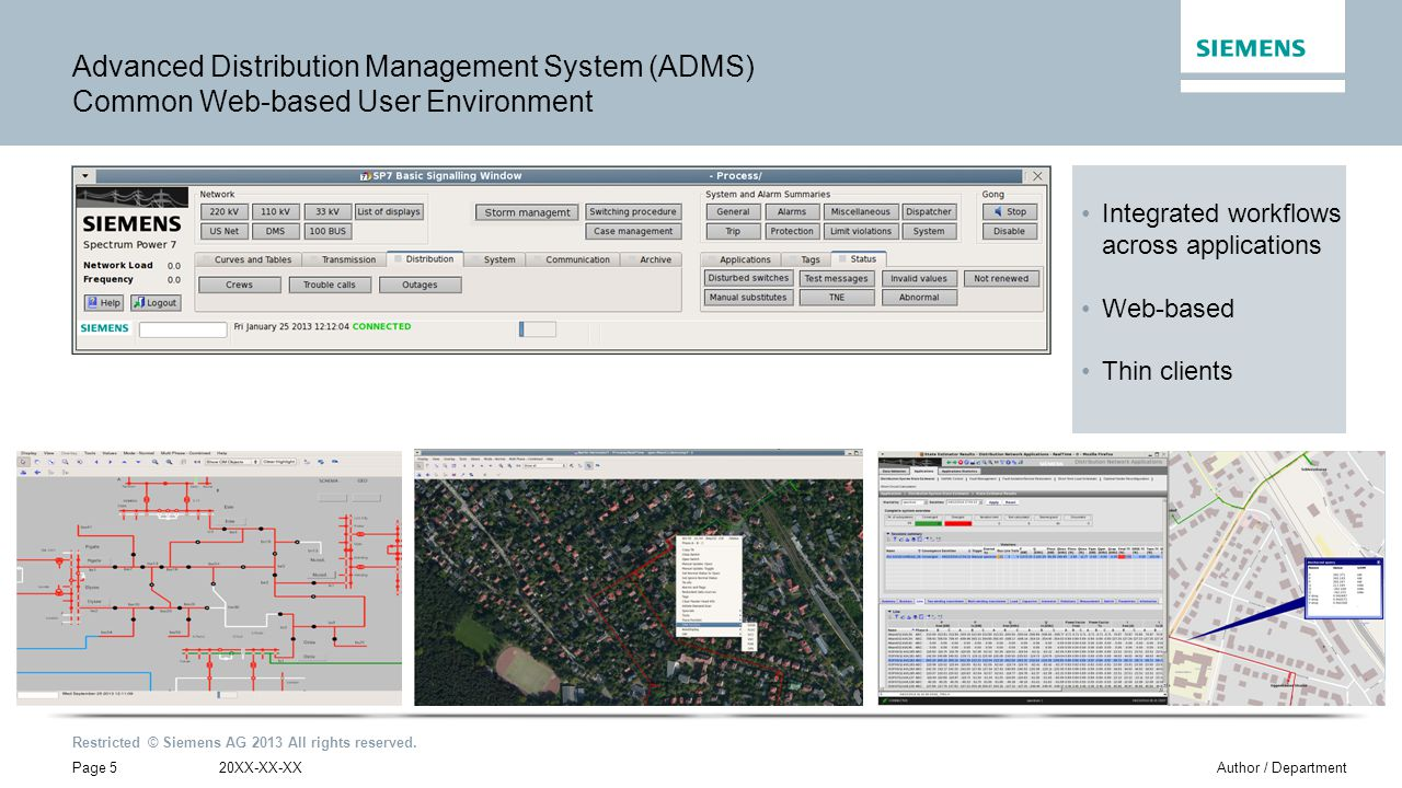 Advanced Distribution Management System (ADMS) Common Web-based User Environment