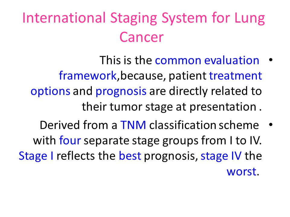 International Staging System for Lung Cancer