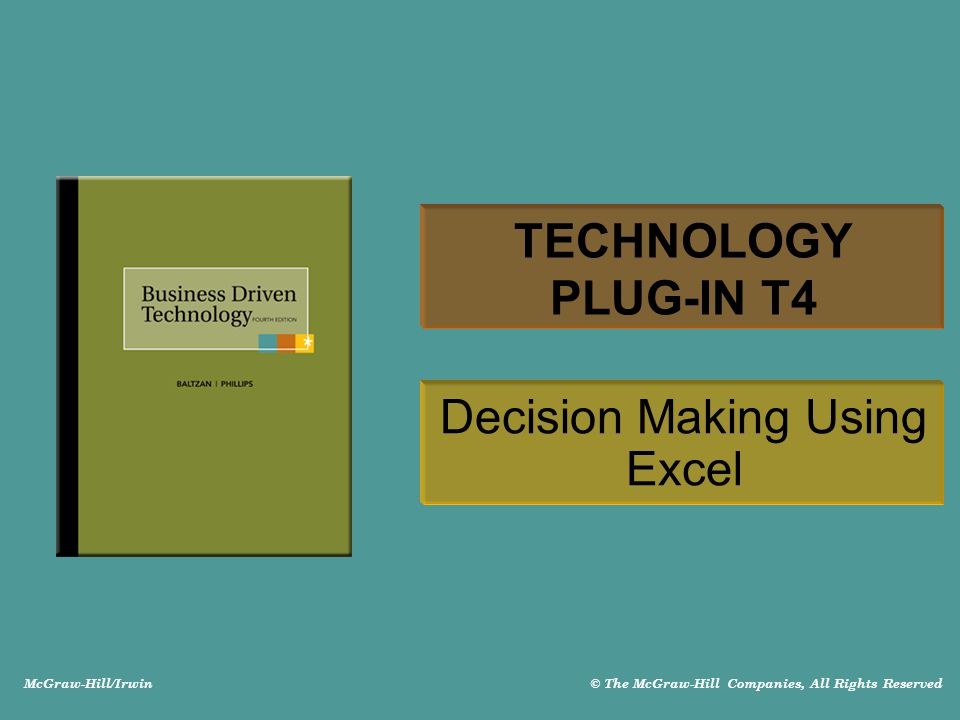 Decision Making Using Excel