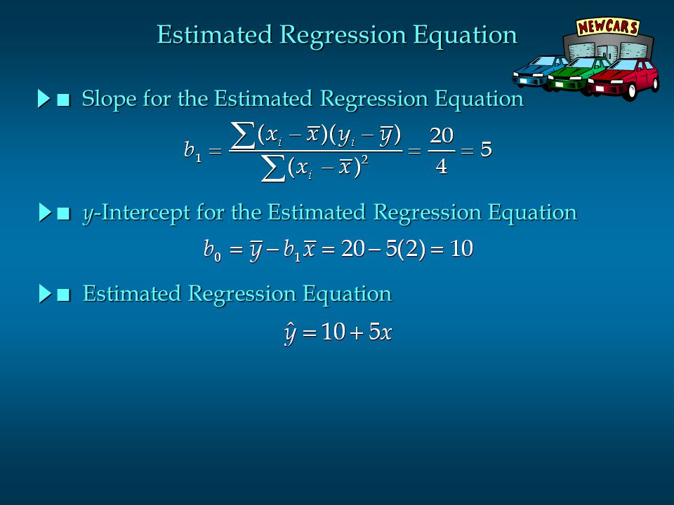 Estimated Regression Equation