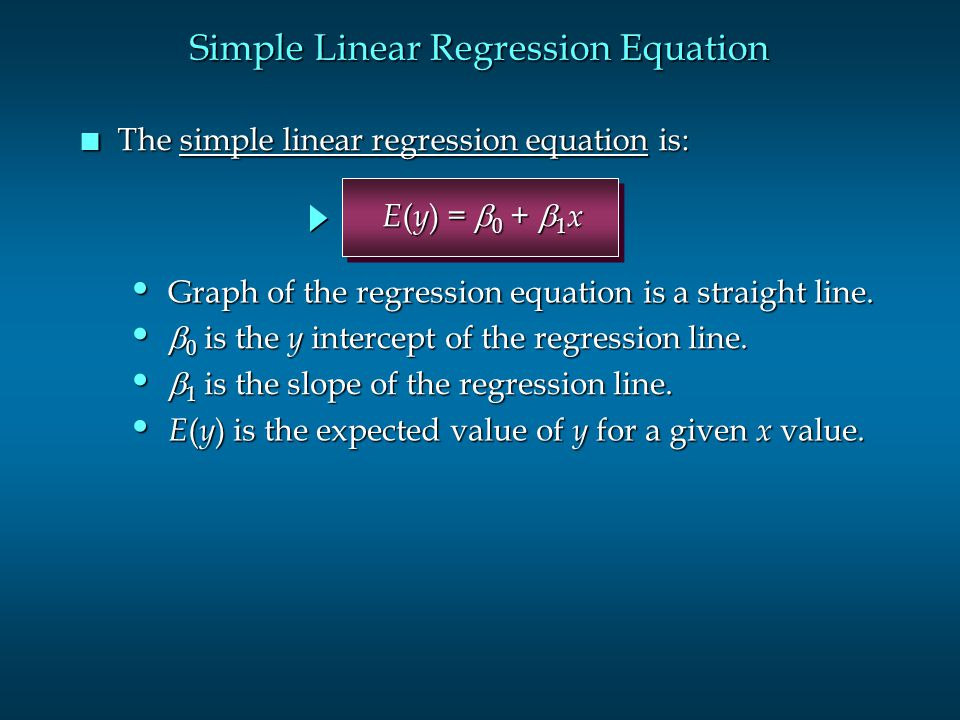 Simple Linear Regression Equation