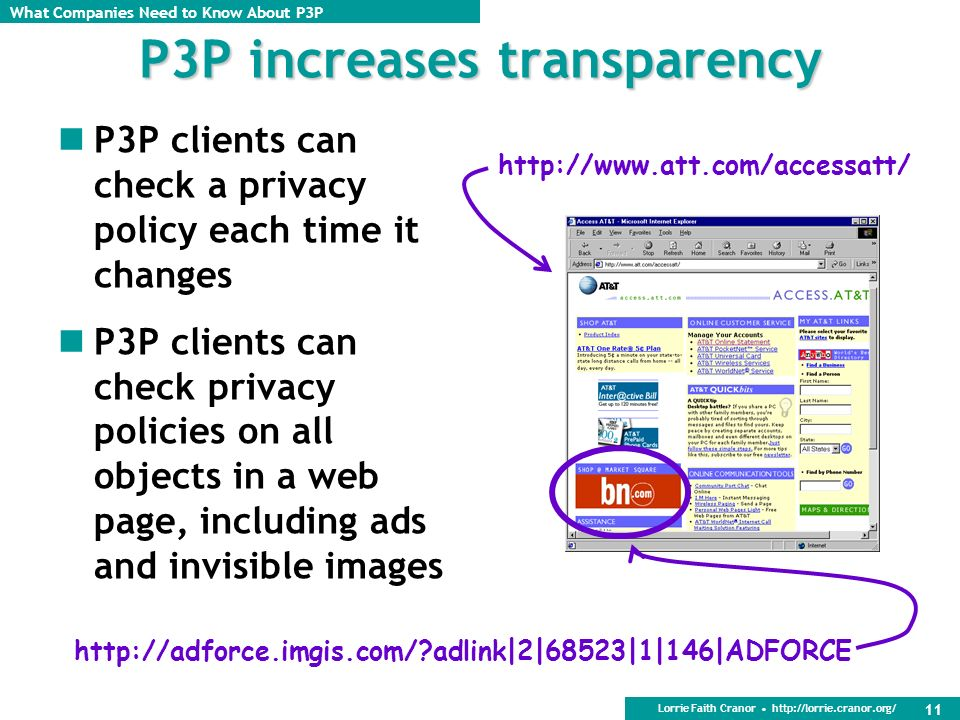 P3P increases transparency