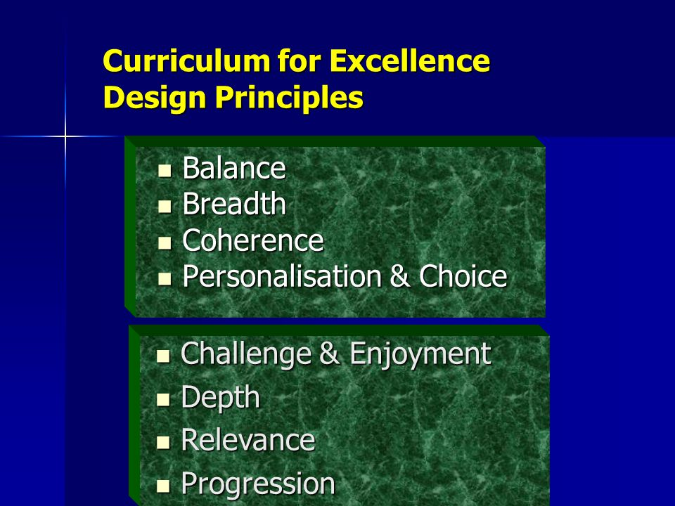 Curriculum for Excellence Design Principles