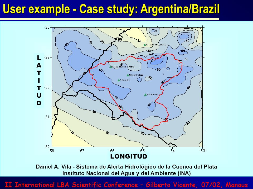User example - Case study: Argentina/Brazil