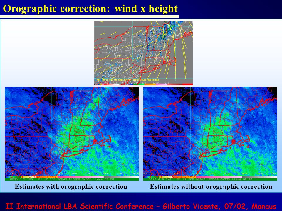 Orographic correction: wind x height