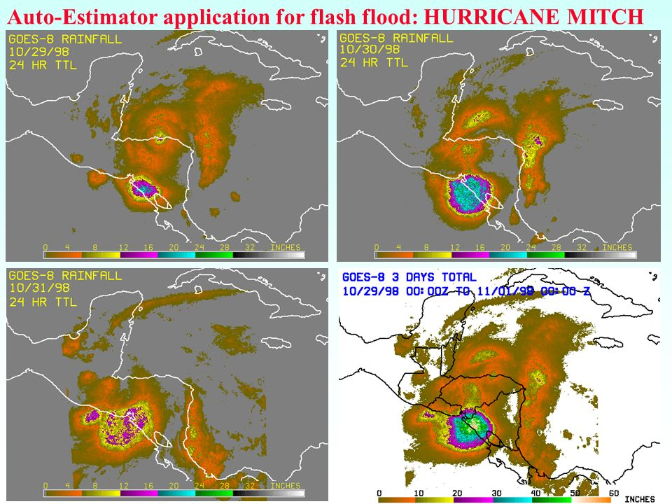 Auto-Estimator application for flash flood: HURRICANE MITCH