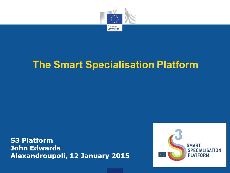 The Smart Specialisation Platform