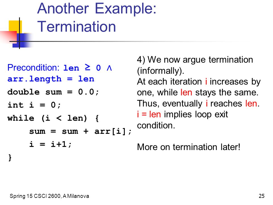 Another Example: Termination