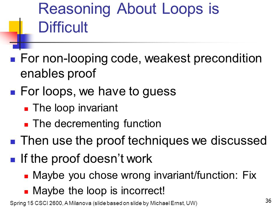 Reasoning About Loops is Difficult