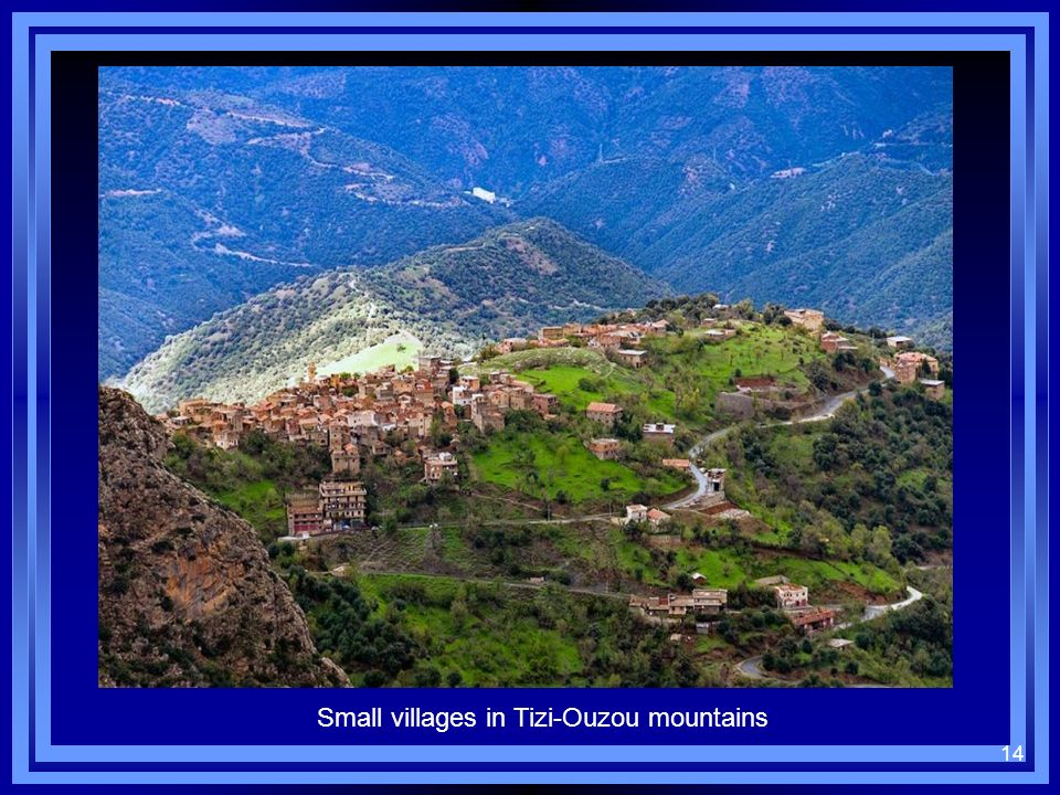 Small villages in Tizi-Ouzou mountains