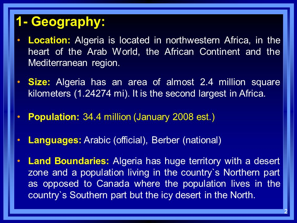 1- Geography: