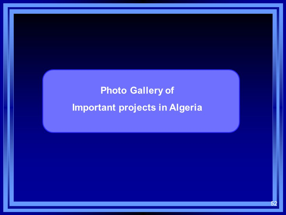 Important projects in Algeria