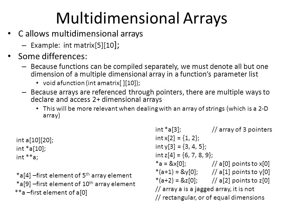 how to put string into two dimensional array in c