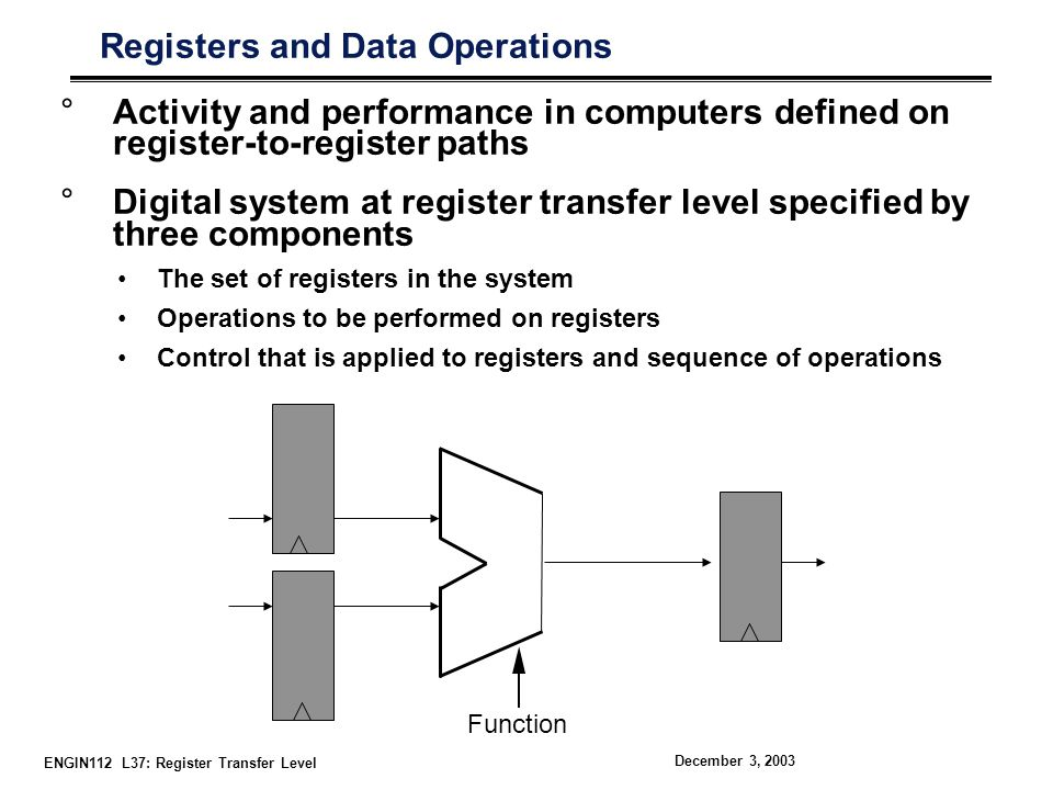 Registers and Data Operations