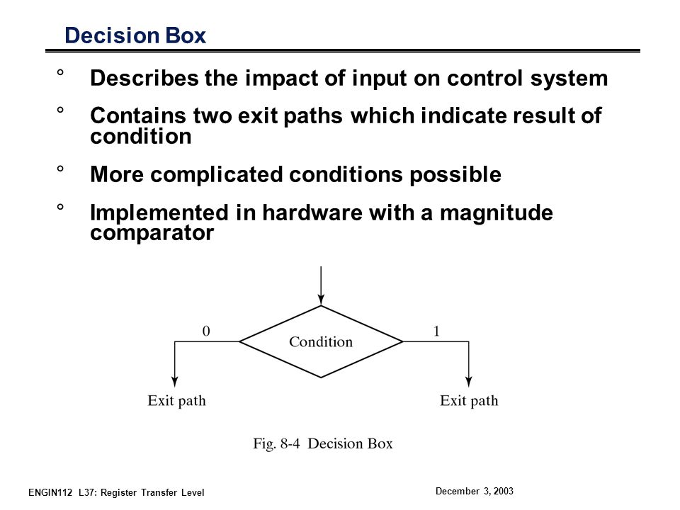 Describes the impact of input on control system