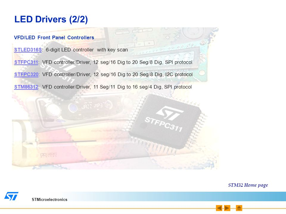 STM32 ARM CORTEX-M3 Microcontroller Associated Product Guide - ppt