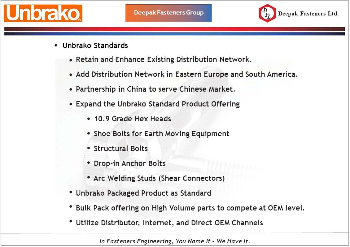 Deepak Fasteners Group - ppt download