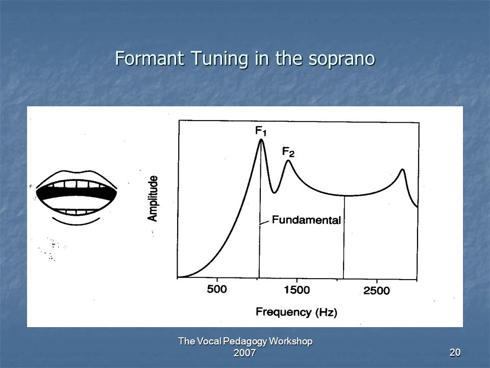 Formant Tuning in the soprano