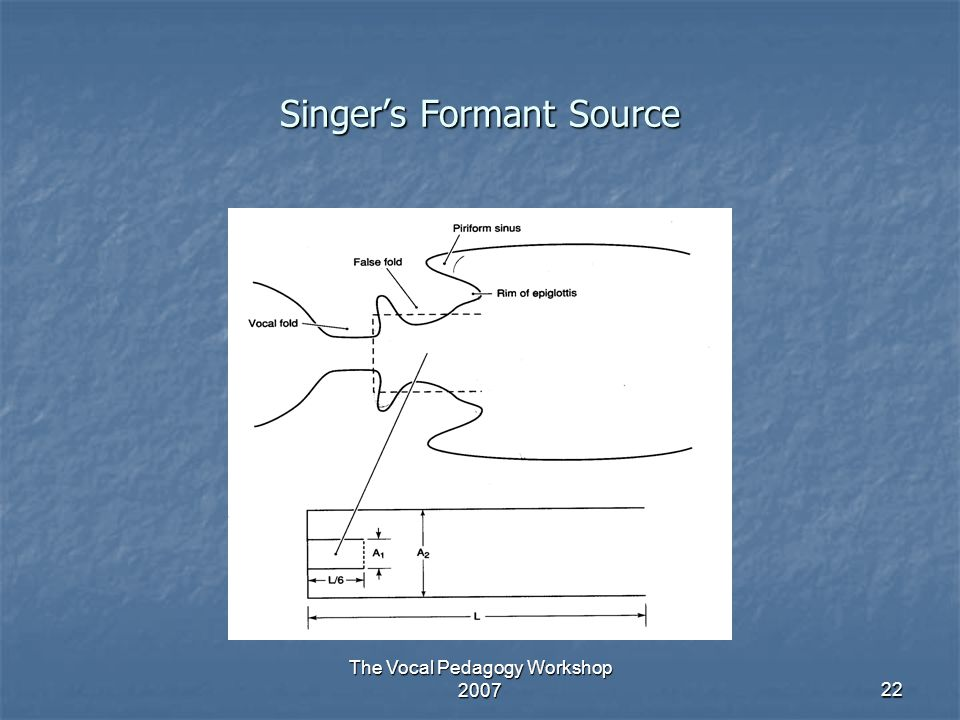 Singer's Formant Source