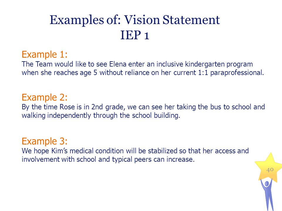 how to make a good vision statement special education