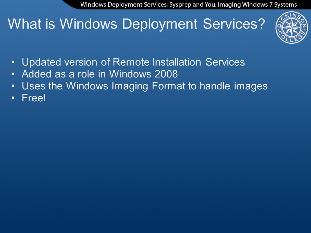 Windows Deployment Services Sysprep and You - ppt video