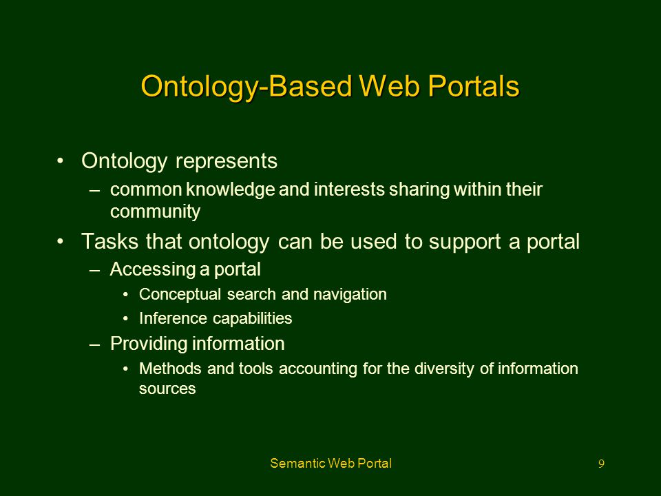 Ontology-Based Web Portals