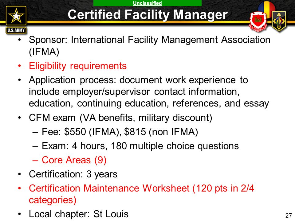 USAES Credentialing Program and National Credentials COL Jason ...