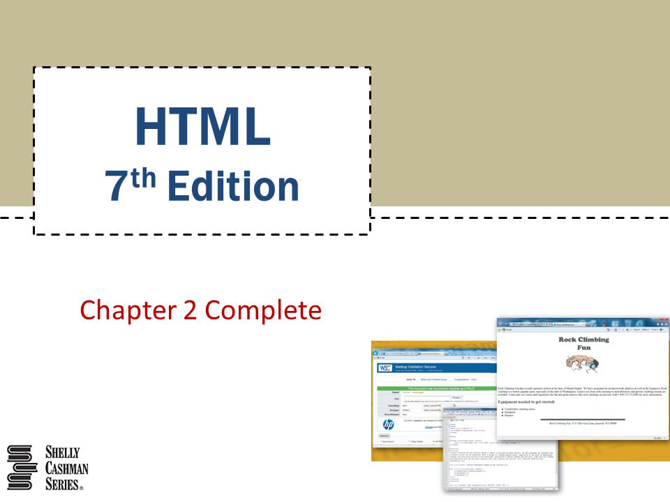 HTML 7th Edition Chapter 2 Complete