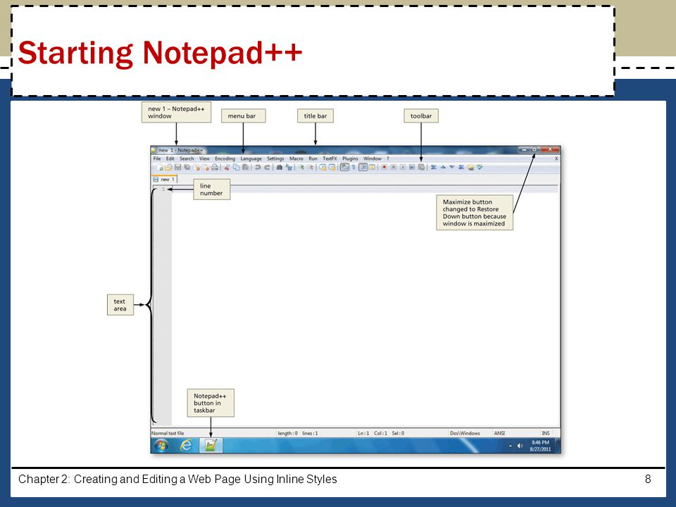 Starting Notepad++ Chapter 2: Creating and Editing a Web Page Using Inline Styles