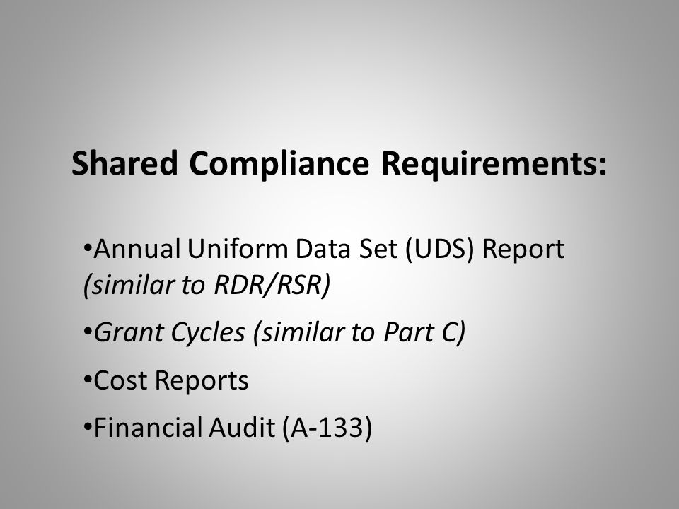 Shared Compliance Requirements: