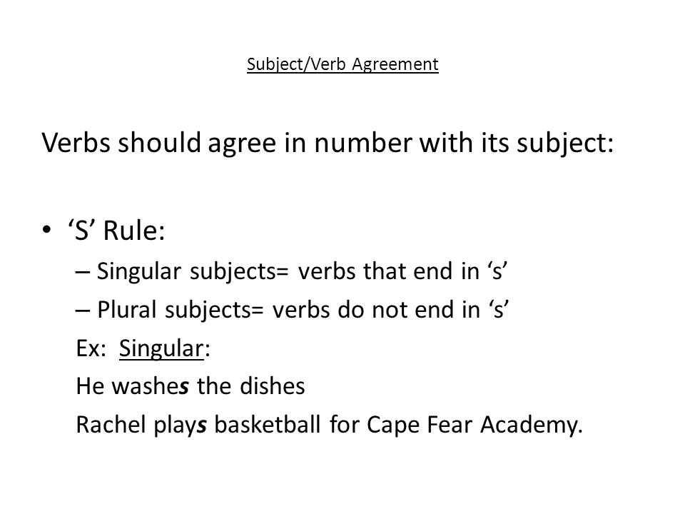 Subjectverb Agreement Ppt Download