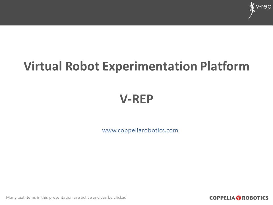 Virtual Robot Experimentation Platform
