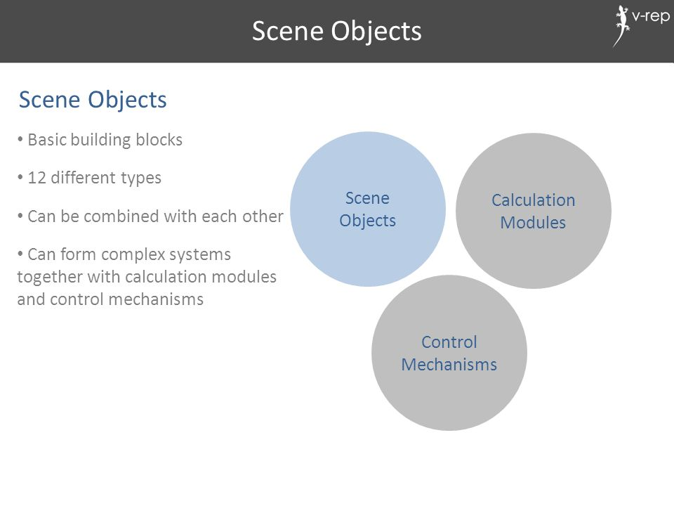 Scene Objects Scene Objects Basic building blocks 12 different types
