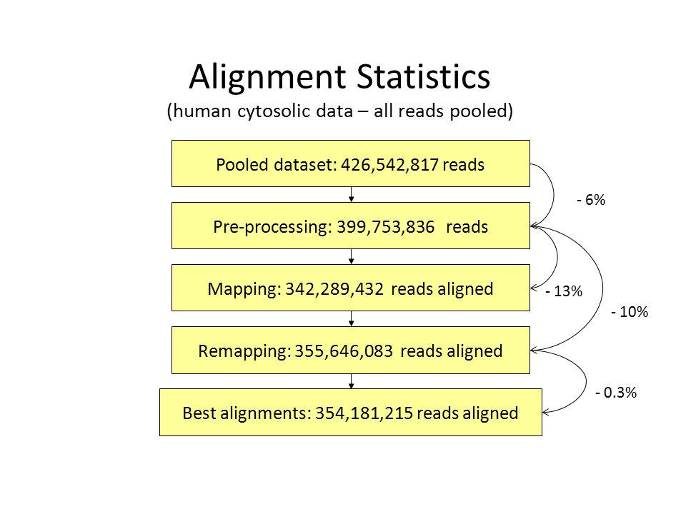 Alignment Statistics (human cytosolic data – all reads pooled)