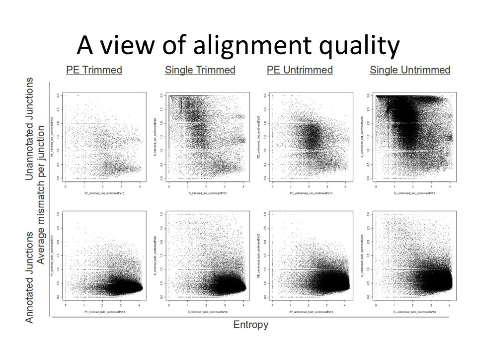 A view of alignment quality
