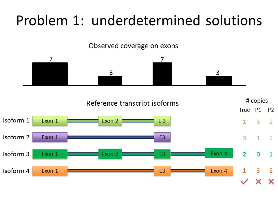 Problem 1: underdetermined solutions