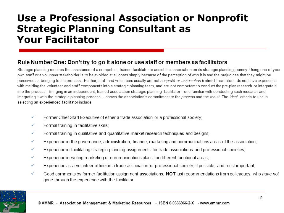 Use a Professional Association or Nonprofit Strategic Planning Consultant as Your Facilitator
