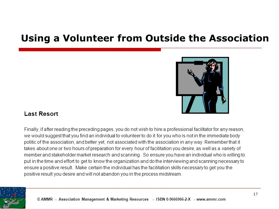 Using a Volunteer from Outside the Association