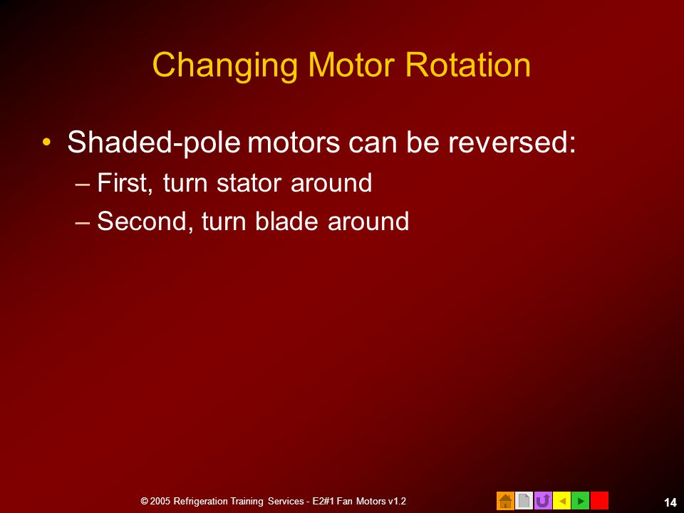 Changing Motor Rotation