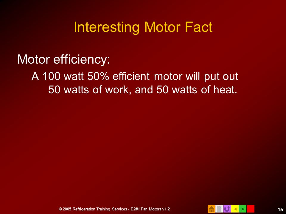 Interesting Motor Fact