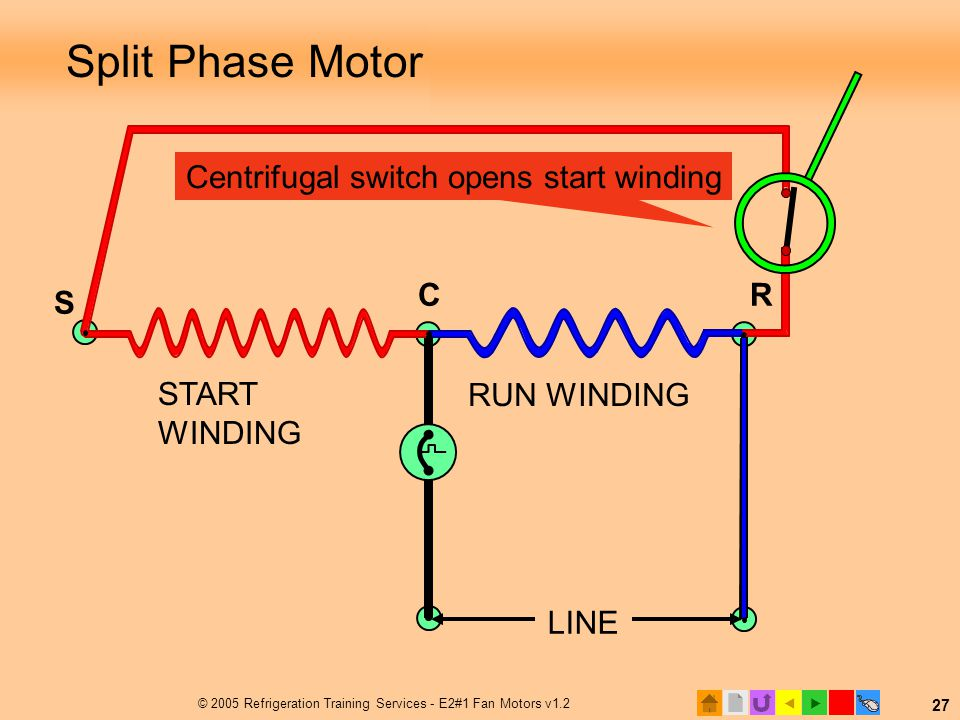 Split Phase Motor with Centrifugal Switch