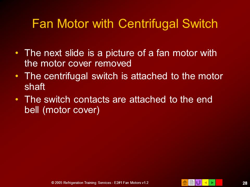 Fan Motor with Centrifugal Switch