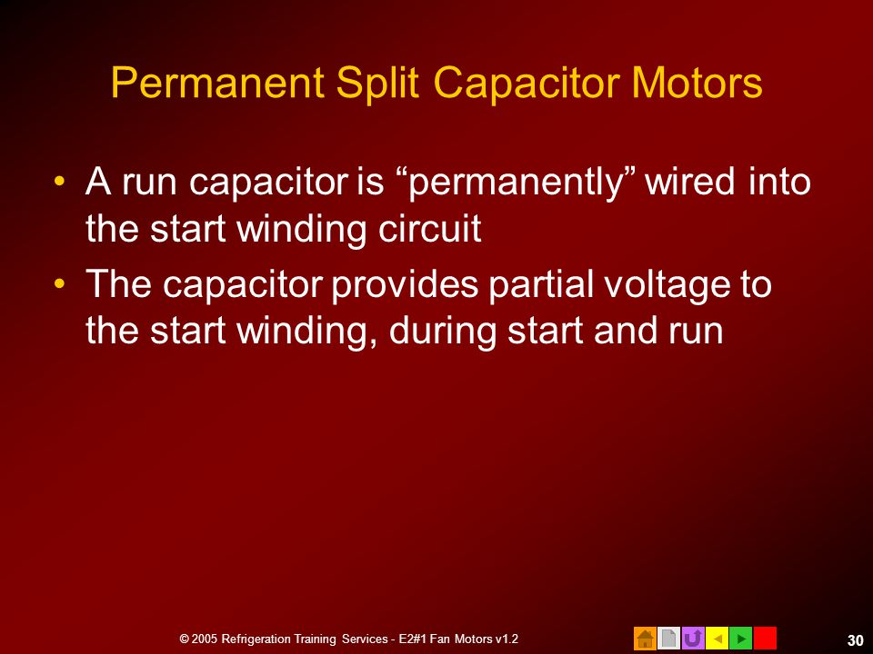 Permanent Split Capacitor Motors