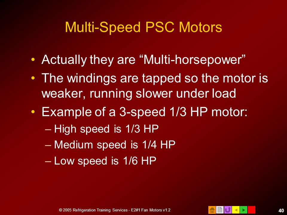 Multi-Speed PSC Motors