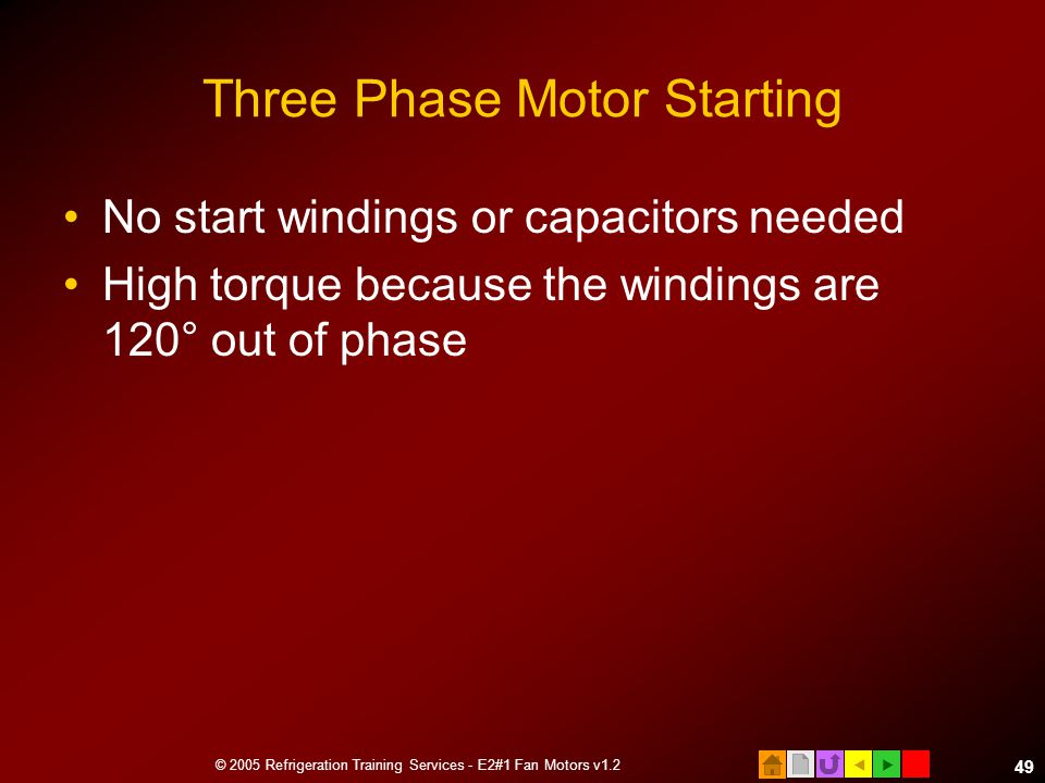 Three Phase Motor Starting