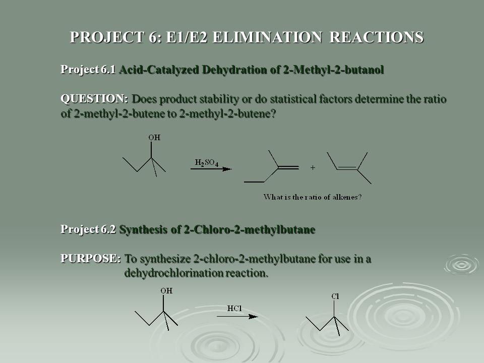dehydration of 2 methyl 2 butanol