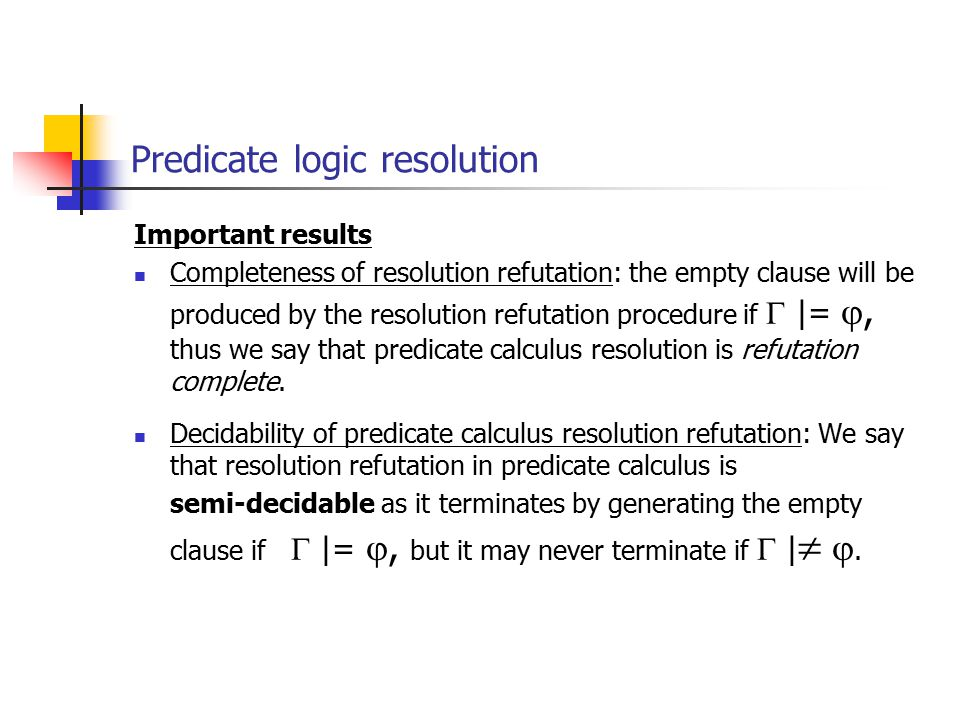 Predicate calculus russell and norvig: chapter 8,9. Ppt download.