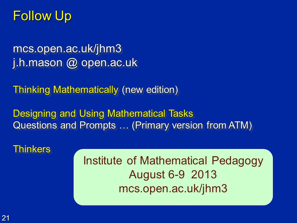 Institute of Mathematical Pedagogy