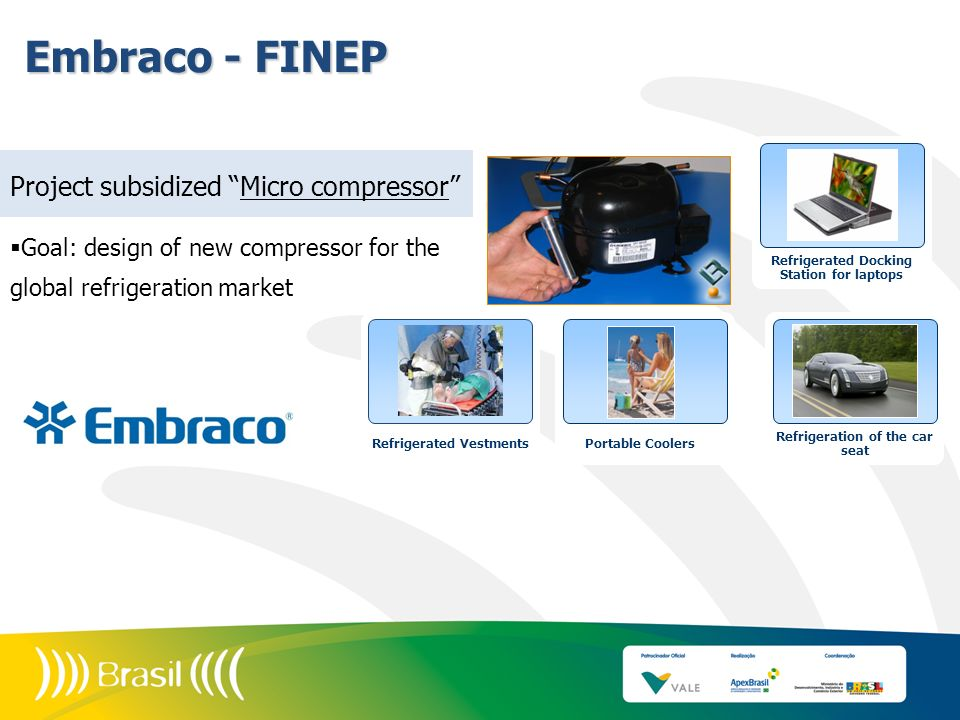Embraco - FINEP Project subsidized Micro compressor