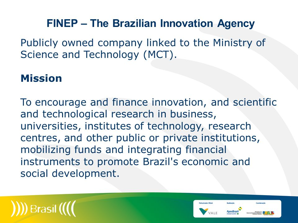 FINEP – The Brazilian Innovation Agency